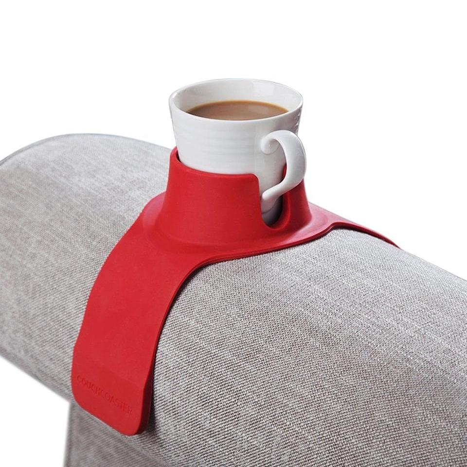 <p>This <span>CouchCoaster The Ultimate Drink Holder for Your Sofa</span> ($25) is a genius invention.</p>