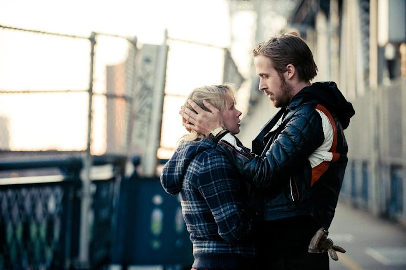 """FILE - In this publicity file photo released by The Weinstein Company, Michelle Williams, left, and Ryan Gosling, are shown in a scene from, """"Blue Valentine."""" (AP Photo/The Weinstein Company, File)"""