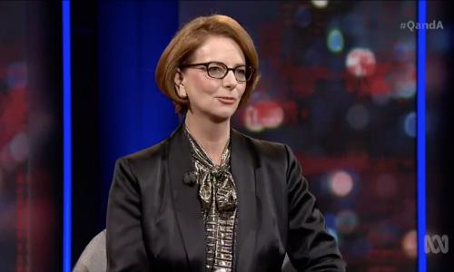 Julia Gillard tells Q+A she wishes she had called out sexism at start of prime ministership