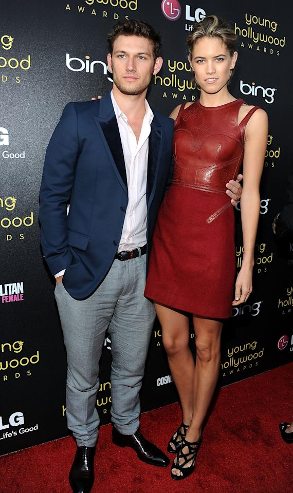 HOLLYWOOD, CA - JUNE 14:  Actors Alex Pettyfer (L) and Cody Horn (R) arrive at the Young Hollywood Awards at Hollywood Athletic Club on June 14, 2012 in Hollywood, California.  (Photo by Valerie Macon/Getty Images)
