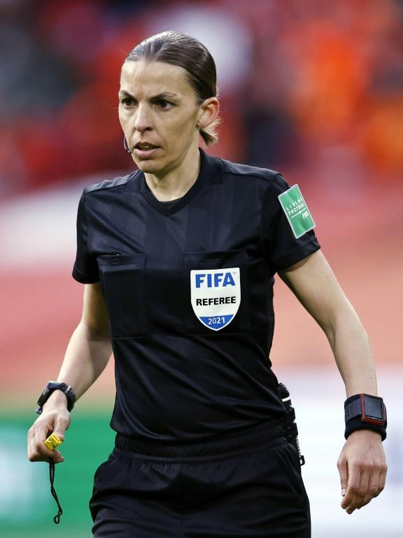 Stephanie Frappart is the first woman to referee a men's World Cup qualifier