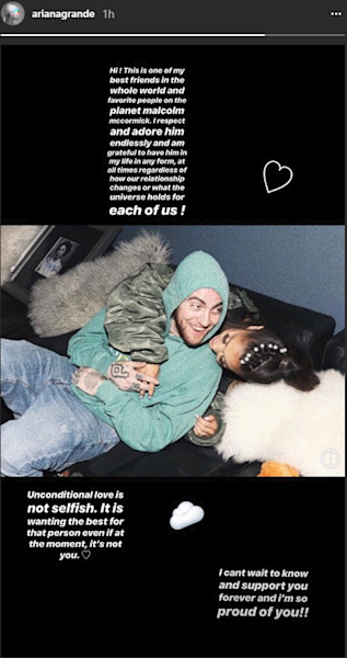 The singer and the rapper announced their split in May, prior to Grande's whirlwind romance with 'SNL' star Pete Davidson.