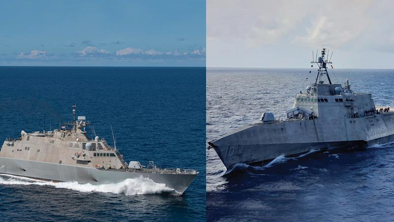 The two US Navy littoral combat ships will soon share a brain