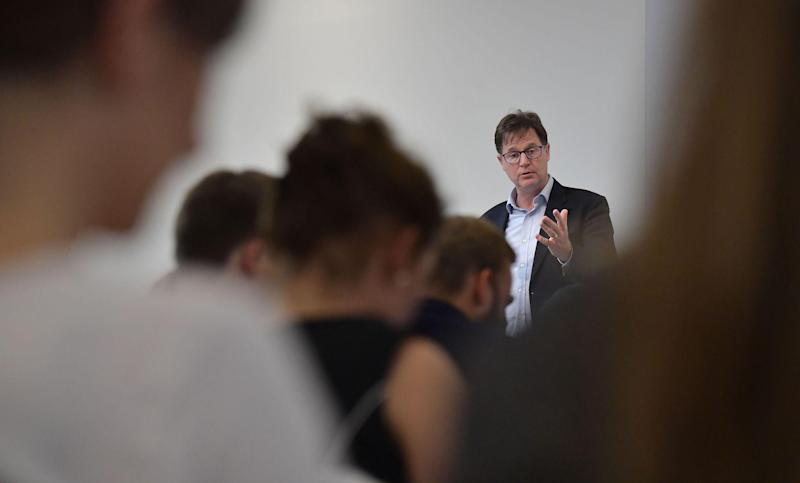 Facebook's vice president Nick Clegg holds a speech at the Hertie School of Governance in Berlin on June 24, 2019: TOBIAS SCHWARZ/AFP via Getty Images