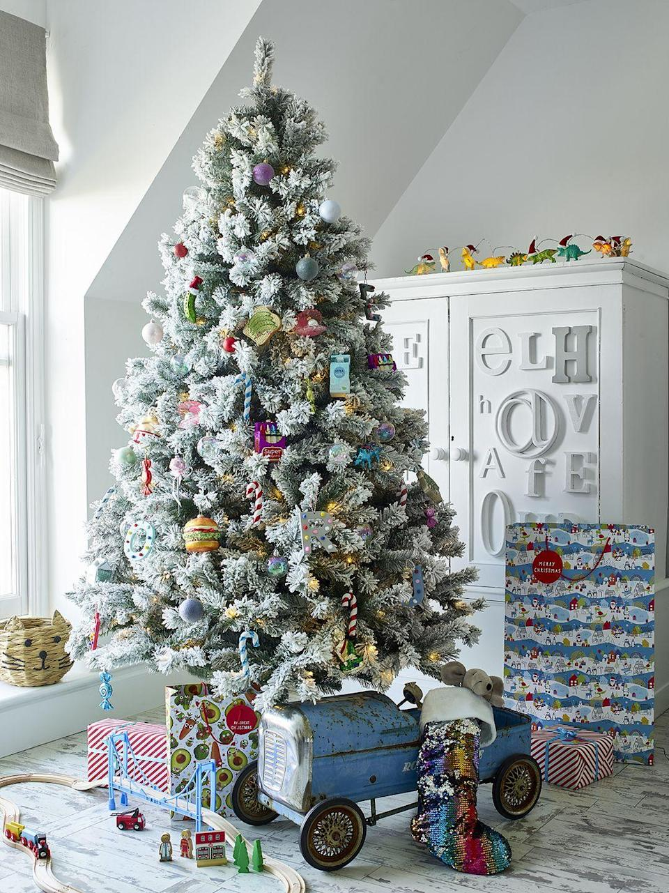 """<p>'Fun for the little ones, """"Kindmas"""" uses a multi-coloured colour palette to add vibrance to the festive season,' Julie says. 'Novelty characters across home décor add a quirky and entertaining touch to this joyful trend.' </p>"""