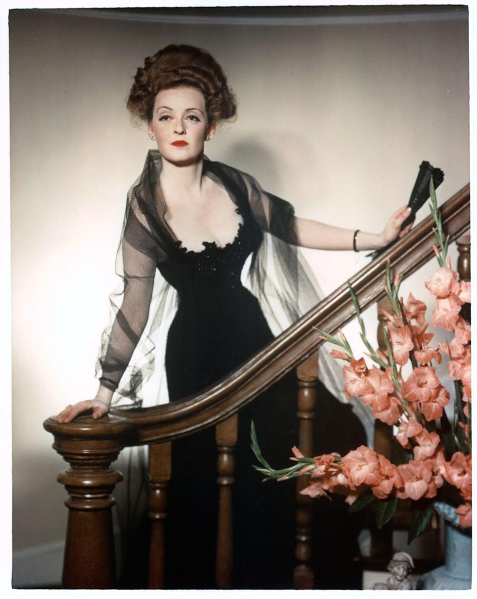 <p>Davis in a publicity portrait for the 1941 drama <em>The Little Foxes</em>, for which she received her fifth Oscar nomination.</p>