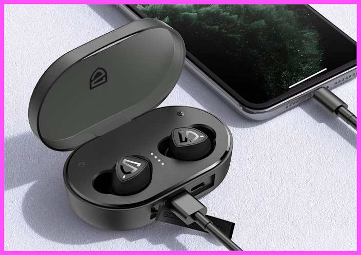 Get these SoundPEATS TrueShift2 Wireless Earbuds for just $15. (Photo: Amazon)
