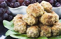 """<p>Whether served as a side dish or as an appetizer, there's no denying that these sausage balls are reminiscent of <a href=""""https://www.thedailymeal.com/cook/classic-southern-recipes-are-better-grandma-s-gallery?referrer=yahoo&category=beauty_food&include_utm=1&utm_medium=referral&utm_source=yahoo&utm_campaign=feed"""" rel=""""nofollow noopener"""" target=""""_blank"""" data-ylk=""""slk:grandma's favorite Southern recipes"""" class=""""link rapid-noclick-resp"""">grandma's favorite Southern recipes</a>.</p> <p><a href=""""https://www.thedailymeal.com/recipes/southern-sausage-balls-recipe?referrer=yahoo&category=beauty_food&include_utm=1&utm_medium=referral&utm_source=yahoo&utm_campaign=feed"""" rel=""""nofollow noopener"""" target=""""_blank"""" data-ylk=""""slk:For the Southern Sausage Balls recipe, click here."""" class=""""link rapid-noclick-resp"""">For the Southern Sausage Balls recipe, click here.</a></p>"""