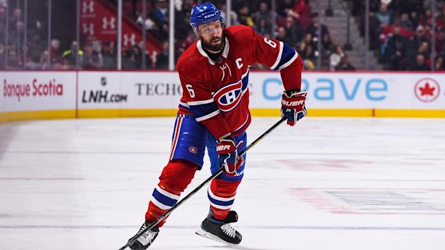 MONTREAL, QC - FEBRUARY 02: Montreal Canadiens defenceman Shea Weber (6) is once again feeling the pain in his surgically repaired ankle. (Photo by David Kirouac/Icon Sportswire)