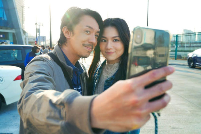 Louis Cheung and Chrissie Chau taking one for the album
