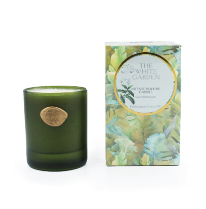 """<p>This candle boasts scents found in the Sunken Garden, one of Princess Diana's favourite spots in Kensington Palace. When lit, the candle will emit scents from flowers including the Lily of Valley and roses.<br><em><a rel=""""nofollow noopener"""" href=""""http://www.historicroyalpalaces.com/luxurycandle-whitegarden.html"""" target=""""_blank"""" data-ylk=""""slk:Royal Historical Palaces"""" class=""""link rapid-noclick-resp"""">Royal Historical Palaces</a>, £34.99</em> </p>"""