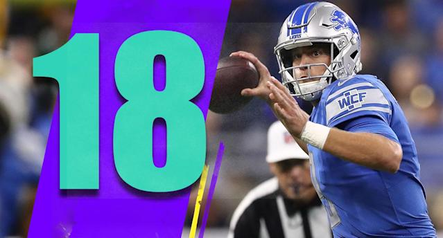 <p>Kenny Golladay has been a revelation, although his talent was obvious as a rookie last season. Even with Golden Tate and Marvin Jones, it feels like the Lions need to feature Golladay even more. (Matthew Stafford) </p>