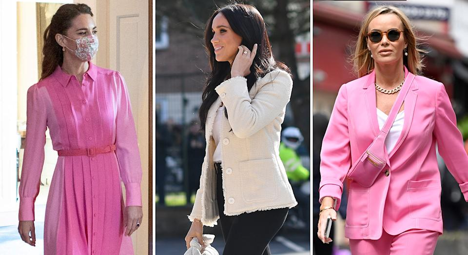 The Duchess of Cambridge, Meghan Markle and Amanda Holden are among some famous faces who have worn Me+Em and nailed their look. (Getty Images)