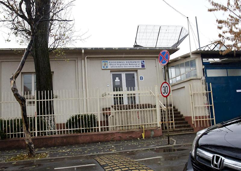 FILE - This undated file photo shows the National Registry Office for Classified Information, also known as ORNISS, in a busy residential neighborhood minutes from the center of Romania's capital city of Bucharest. Confined to the basement of a CIA secret prison in Romania about a decade ago, Khalid Sheikh Mohammed, the admitted mastermind of the 9/11 terrorist attacks, asked his jailers whether he could embark on an unusual project: Would the spy agency allow Mohammed, who had earned his bachelor's in mechanical engineering, to design a vacuum cleaner? The agency officer in charge of the prison called CIA headquarters and a manager approved the request, a former senior CIA official told The Associated Press. (AP Photo, File)