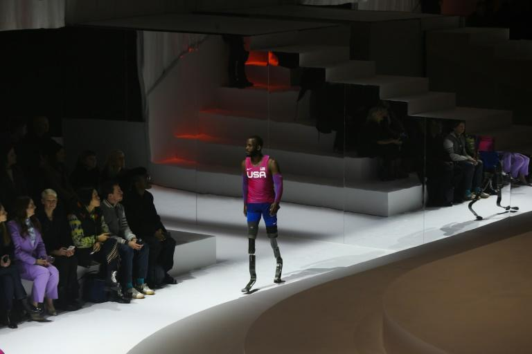 Blake Leeper helped unveil Nike's planned collection for the 2020 Tokyo Olympics in New York in February