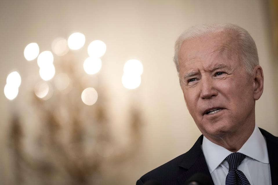 <p>U.S. President Joe Biden delivers remarks on the economy in the East Room of the White House on May 10, 2021 in Washington, DC</p> (Photo by Drew Angerer/Getty Images)