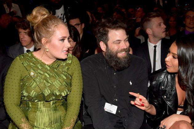 Adele and Simon at the Grammys in 2017 (Photo: Lester Cohen via Getty Images)