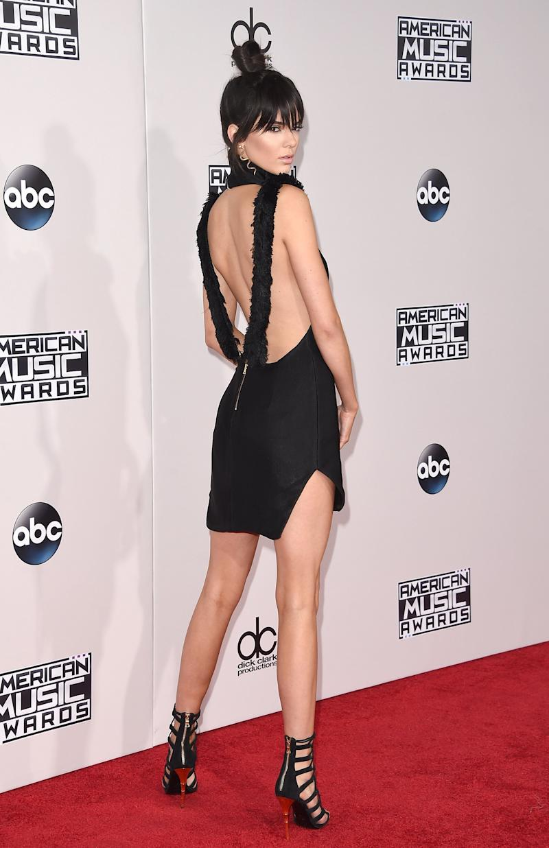 LOS ANGELES, CA - NOVEMBER 22: Model Kendall Jenner attends the 2015 American Music Awards at Microsoft Theater on November 22, 2015 in Los Angeles, California. (Photo by Jason Merritt/Getty Images)