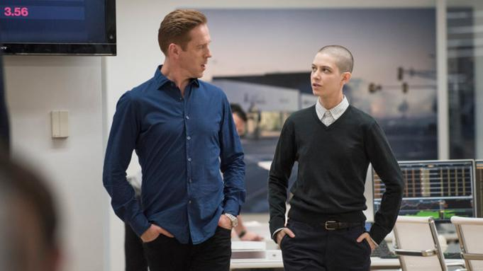 Damien Lewis and Asia Kate Dillon in Billons (Image by Showtime)