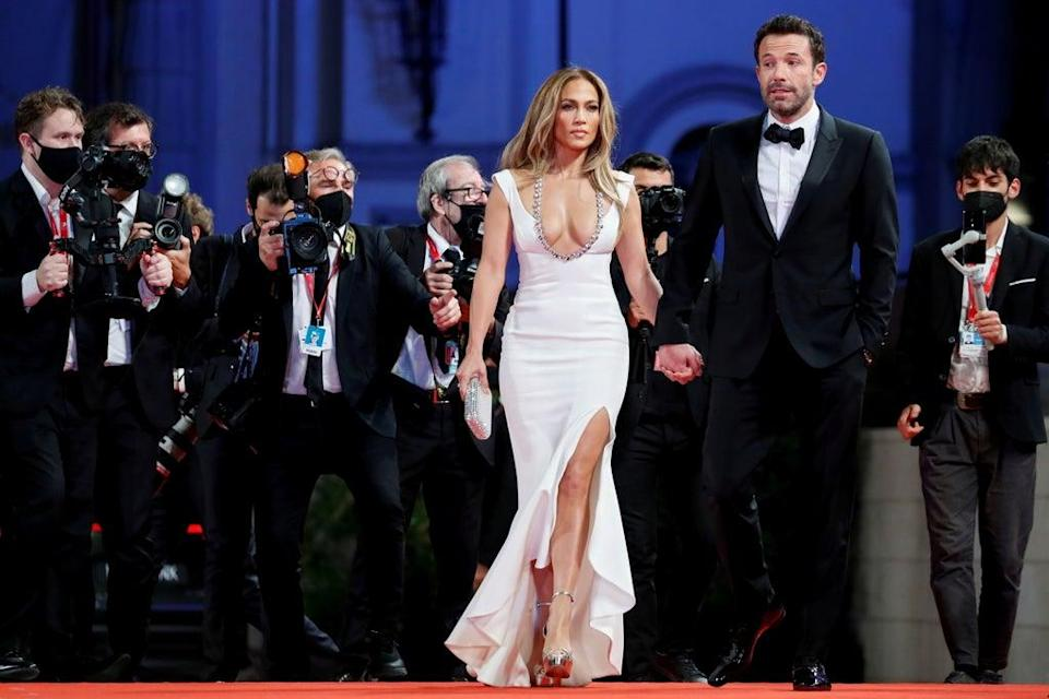 J-Lo and Ben Affleck made their debut red carpet on Friday  (REUTERS)