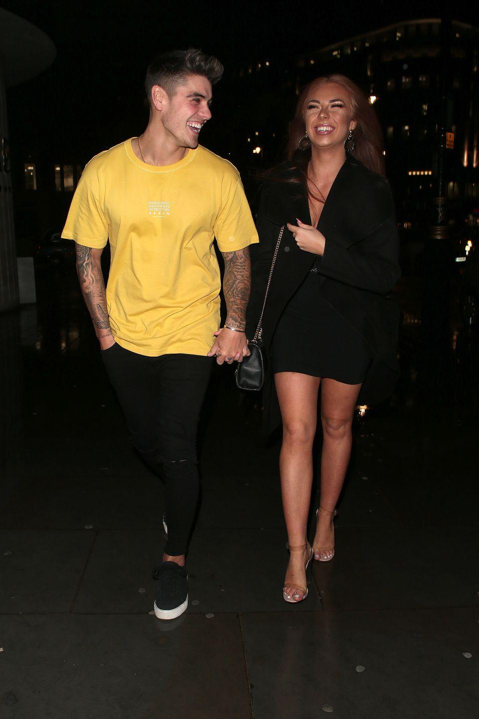 """<p><strong>Relationship status: Broken up / Mugged off</strong></p><p><a href=""""https://www.cosmopolitan.com/uk/entertainment/a32050067/love-island-luke-demi-still-together-quarantining/"""" rel=""""nofollow noopener"""" target=""""_blank"""" data-ylk=""""slk:Demi Jones and Luke Mabbott"""" class=""""link rapid-noclick-resp"""">Demi Jones and Luke Mabbott</a> split at the end of May after spending three months apart during the coronavirus lockdown, which is not an ideal situation for any couple.<br><br>A source told <a href=""""https://www.thesun.co.uk/tvandshowbiz/love-island/11738275/love-island-demi-luke-m-split/"""" rel=""""nofollow noopener"""" target=""""_blank"""" data-ylk=""""slk:The Sun Online"""" class=""""link rapid-noclick-resp"""">The Sun Online</a>, """"It's no huge drama - they're just better off as friends. They had a good run but they have split for good.""""<br><br>The source continued, """"There's been no cheating or drama they just drifted apart - he's looking forward to lockdown being over and making the most of his new single status.""""</p>"""