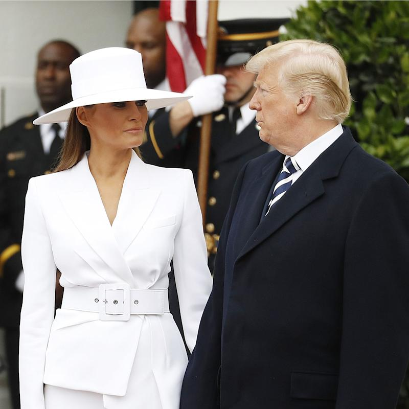Melania Trump Shuts Down Donald, Brings Back the All-Business French Manicure