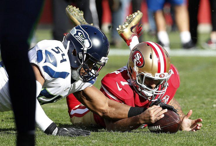 The Seattle Seahawks visited with Colin Kaepernick but didn't offer a contract. (AP)