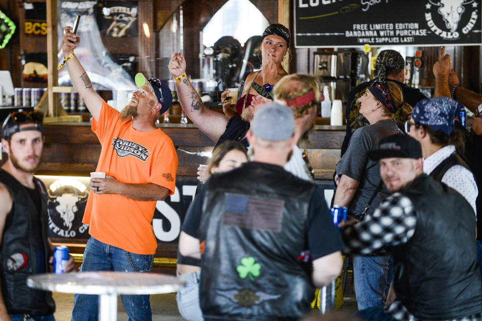 The 80th Annual Sturgis Motorcycle Rally in Sturgis, South Dakota, which took place n early August, has been identified as a coronavirus superspreader event. (Photo by Michael Ciaglo/Getty Images)