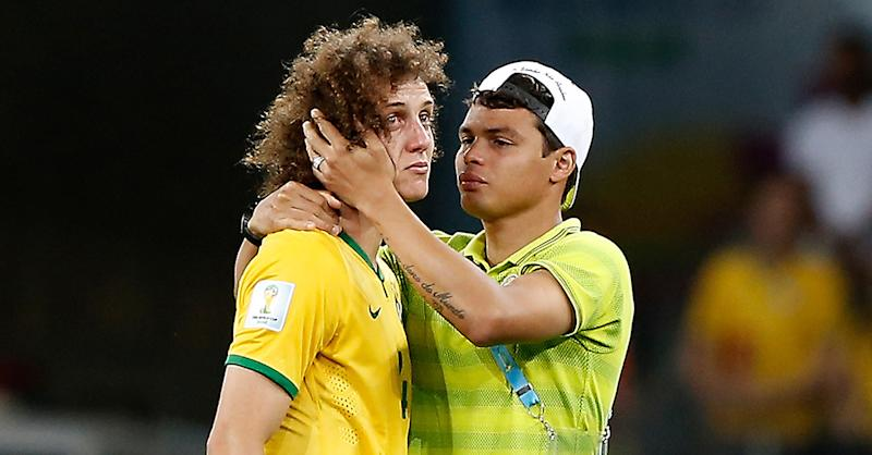 David Luiz Brazil Germany World Cup 2014
