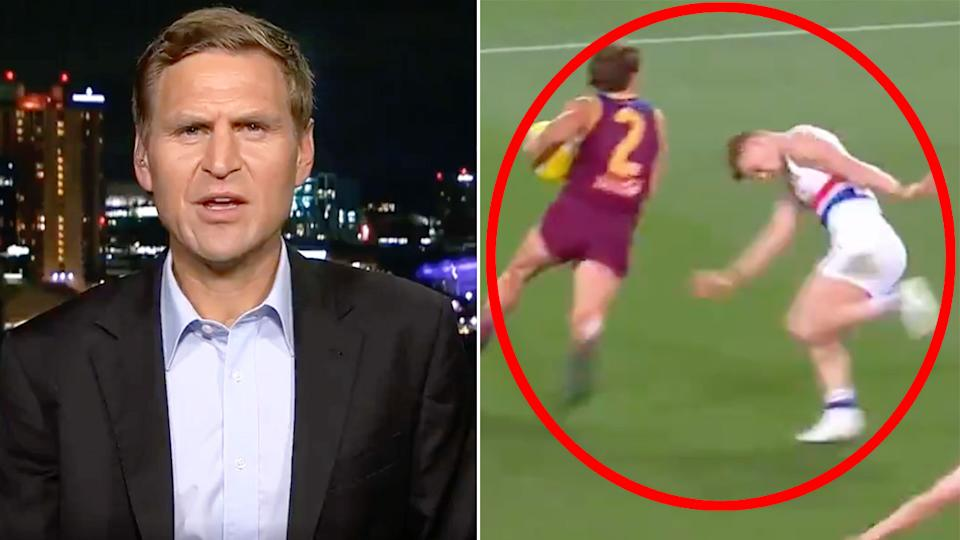 Pictured here, Kane Cornes discusses Adam Treloar's struggles on Footy Classified.