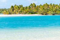 """<p>This South Pacific nation consists of 15 islands and is politically tied to New Zealand. This year-round paradise offers sweeping stretches of coconut palms (no hotels can be taller than them!), piercing blue waters, and spectacular marine life. </p><p><a href=""""https://www.pacificresort.com/aitutaki/"""" rel=""""nofollow noopener"""" target=""""_blank"""" data-ylk=""""slk:Pacific Resort Aitutaki"""" class=""""link rapid-noclick-resp"""">Pacific Resort Aitutaki</a>, residing on the namesake island, is a lovely place to enjoy a tranquil, tropical retreat via villa or bungalow in the South Pacific.</p>"""