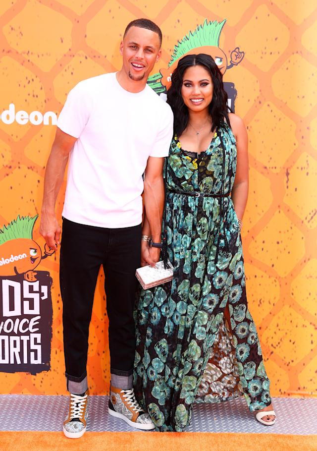 Ayesha Curry, the wife of NBA star Stephen Curry, says she was jostled by a fan while eight months pregnant. (Photo: Getty Images)