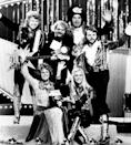 "ABBA after winning Eurovision for ""Waterloo"" (from L to R, up) Björn Ulvaeus, music producer, writer and manager Stig Anderson, Swedish record producer, composer Sven-Olof Walldoff and Benny Andersson, Anni-Frid Lyngstad (Frida) and Agnetha Fältskog"