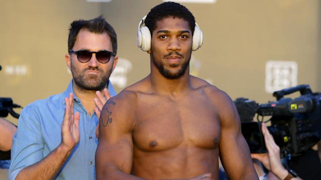 """Ahead of Anthony Joshua's world heavyweight title rematch, his promoter Eddie Hearn conceded he was """"petrified""""."""