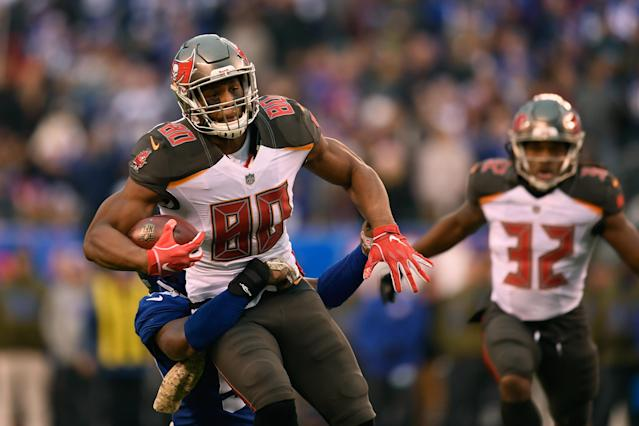 O.J. Howard is a favorite pick at tight end this fantasy football season. (Photo by Sarah Stier/Getty Images)