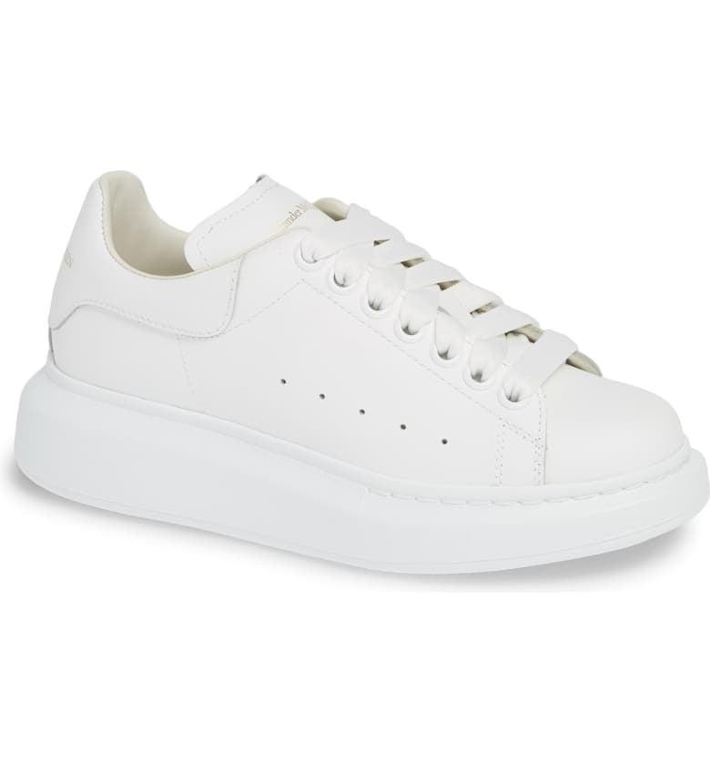 <p>These <span>Alexander McQueen Sneakers</span> ($490) are on trend and make your legs look longer. Basically, it's a dream combination.</p>