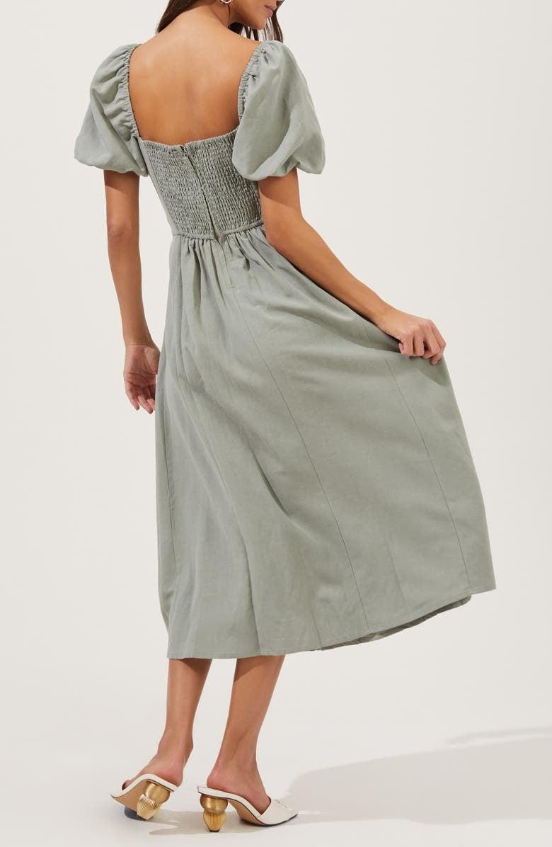 <p>You'll never tire of wearing this <span>ASTR the Label Pleated Bodice Bubble Sleeve Dress</span> ($95).</p>