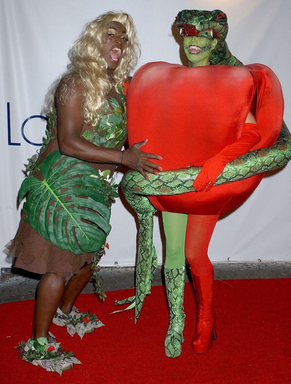 <p>Klum was the forbidden fruit and Seal was Eve—who clearly is dealing with a lot of temptation!—at her 2006 Halloween bash.</p>