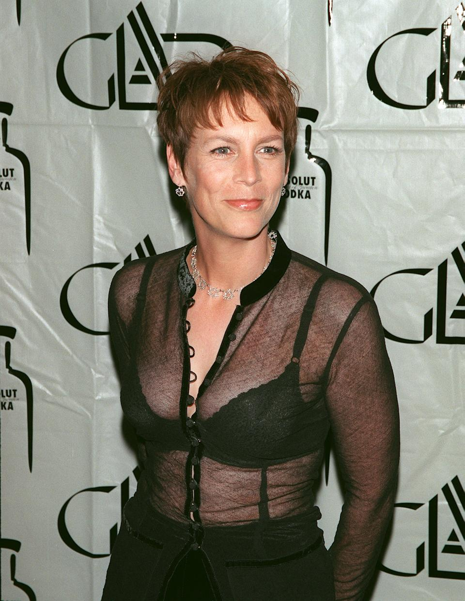 (Original Caption) Jamie Lee Curtis at the Century Plaza Hotel. (Photo by Frank Trapper/Corbis via Getty Images)