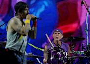 Drummer Chad Smith of Red Hot Chilli Peppers looks on. (PHOTO: Singapore GP)