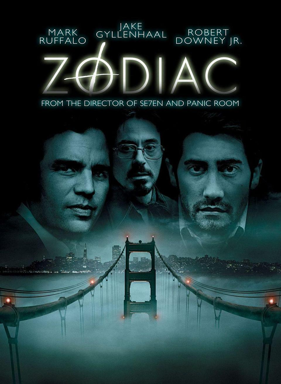 "<p>Based on the real-life unsolved murders of the Zodiac Killer, this mystery thriller stars Jake Gyllenhaal, Mark Ruffalo and Robert Downey Jr. as detectives and journalists who become obsessed with tracking down the serial killer's identity. </p><p><a class=""link rapid-noclick-resp"" href=""https://www.amazon.com/Zodiac-Jake-Gyllenhaal/dp/B07D6Z4Z43?tag=syn-yahoo-20&ascsubtag=%5Bartid%7C10055.g.34396232%5Bsrc%7Cyahoo-us"" rel=""nofollow noopener"" target=""_blank"" data-ylk=""slk:WATCH ON AMAZON"">WATCH ON AMAZON</a></p><p><strong>RELATED: </strong><a href=""https://www.goodhousekeeping.com/life/entertainment/g27047877/best-true-crime-documentaries-netflix/"" rel=""nofollow noopener"" target=""_blank"" data-ylk=""slk:25 True Crime Documentaries on Netflix That Are Too Scary for Primetime"" class=""link rapid-noclick-resp"">25 True Crime Documentaries on Netflix That Are Too Scary for Primetime</a></p>"