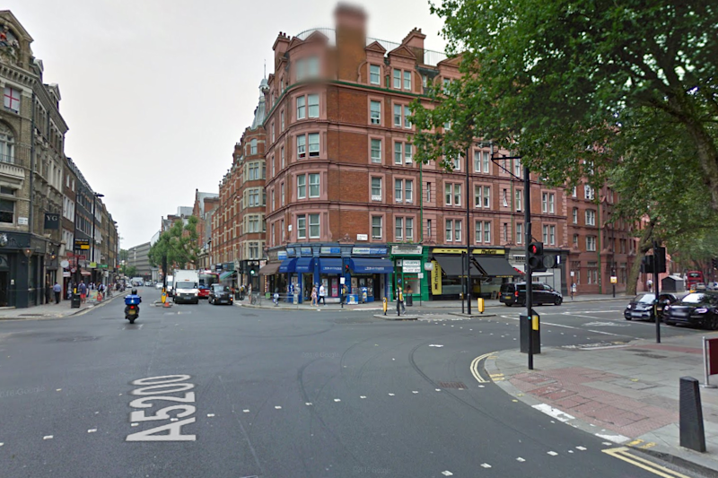 Collision: The cyclist was hit on the junction of Clerkenwell Road and Theobald Road (Google Maps)