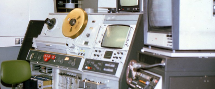 audio visual equipment used to capture the moon landing