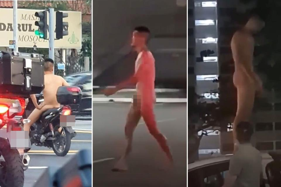 A 24-year-old man, who was seen naked in various public places and was also captured on camera riding a motorbike along the expressway without any clothes, will be charged with appearing nude in a public place.