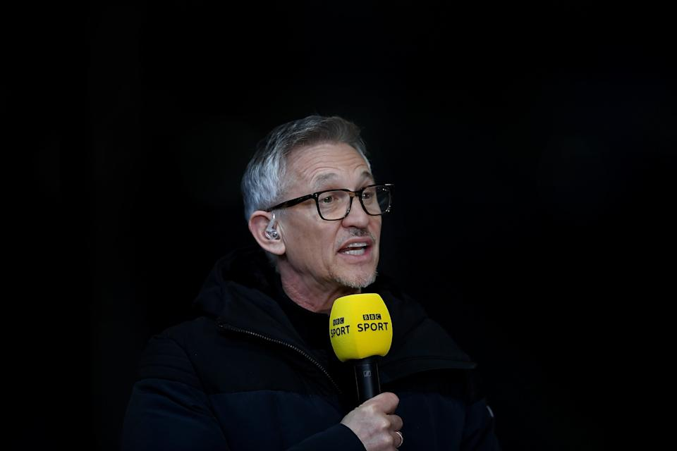 Gary Lineker hosts Match of the Day as well as coverage of major football tournaments  (The FA via Getty Images)