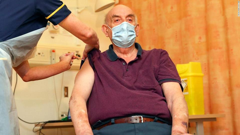"<p>82-year-old Brian Pinker receives the Oxford/AstraZeneca vaccine a hospital in Oxford on Monday. </p><div class=""cnn--image__credit""><em><small>Credit: Steve Parsons/AP / AP licensed</small></em></div>"