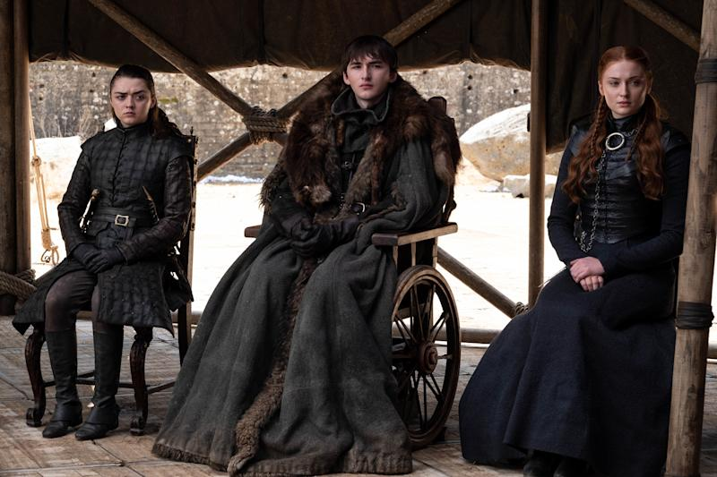 Isaac Hempstead Wright as Bran Stark in the series finale of <i>Game of Thrones</i>.