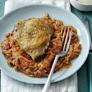 """<p>Prep this chicken and orzo dish in just 15 minutes and put it on the table in 30.</p><p><a href=""""https://www.womansday.com/food-recipes/food-drinks/recipes/a58146/skillet-chicken-orzo-recipe/?visibilityoverride"""" rel=""""nofollow noopener"""" target=""""_blank"""" data-ylk=""""slk:Get the recipe for Skillet Chicken and Orzo."""" class=""""link rapid-noclick-resp""""><u><u><em>Get the recipe for Skillet Chicken and Orzo.</em></u></u></a></p>"""