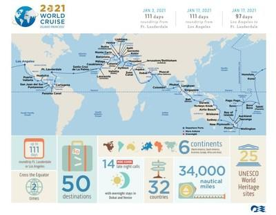 Princess Cruises Debuts Most Destination-Rich World Cruise Ever Offered