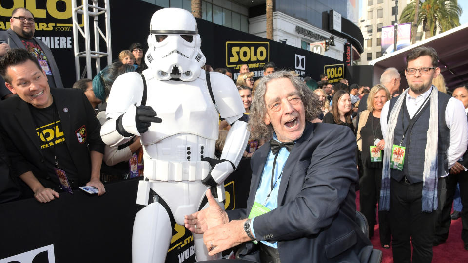 The 7ft 3in iconic actor behind the role of Chewbacca in the <em>Star Wars</em> films, right up until he passed on the baton for 2017's <em>The Last Jedi</em>. He passed away after suffering a heart attack on 30 April. (Photo by Charley Gallay/Getty Images for Disney)